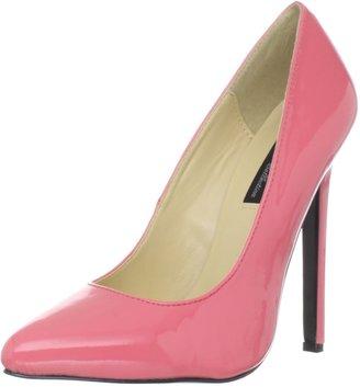 The Highest Heel womens Hottie Stiletto Red Patent 5 M US