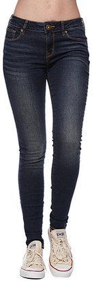 Bullhead Denim Co Gryphin Dark Mid Rise Skinniest Jeans