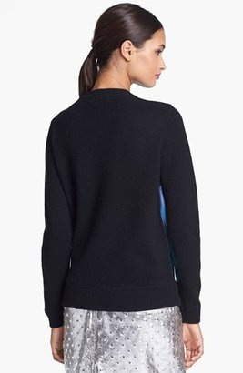Milly Leather Front Sweater