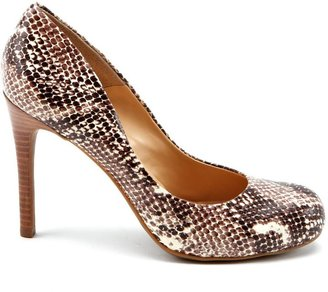 Jessica Simpson Calie Natural Snake Pumps