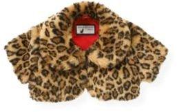 Janie and Jack Leopard Faux Fur Crop Jacket