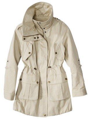 Coffee Shop Petites Outerwear 3/4-Sleeve Cinched Waist Jacket - Khaki