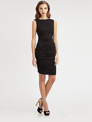 Nicole Miller Tucked Sheath Dress