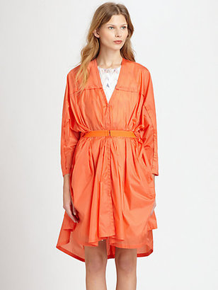 See by Chloe Gathered Waist Trench