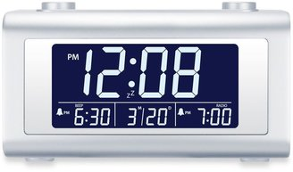 Bed Bath & Beyond Nelsonic Automatic Time Set Digital Alarm Clock Radio