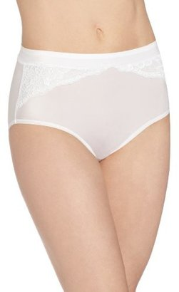 Bali Womens One Smooth U Comfort Indulgence Satin with Lace Brief Panty