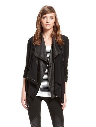 DKNY Ghost Crepe Drape Front Jacket with Fine Lyocell Sleeves and Back