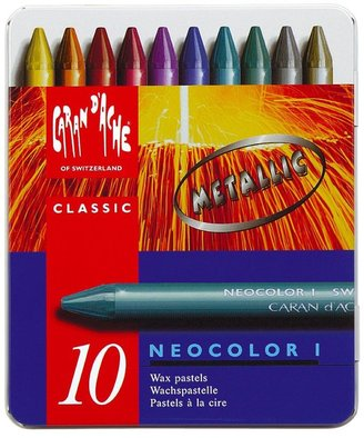 Caran d'Ache Neocolor I Pastels (10 Metallic Colors)