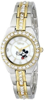 Disney Women's MK2003 Mickey Mouse Two-Tone Rhinestone Bracelet Watch $34.99 thestylecure.com