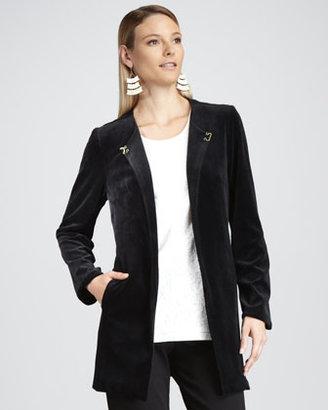 Joan Vass Long Velour Jacket