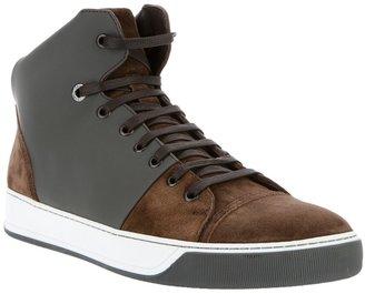 Lanvin paneled hi-top sneaker