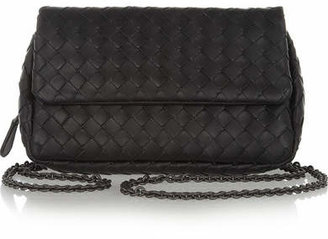 Bottega Veneta - Messenger Mini Intrecciato Leather Shoulder Bag - Black $1,380 thestylecure.com