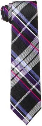 Ben Sherman Men's Saville Plaid Tie, Purple, One Size