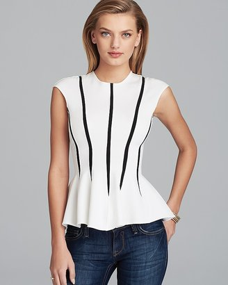 Torn By Ronny Kobo Top - Delilah Peplum