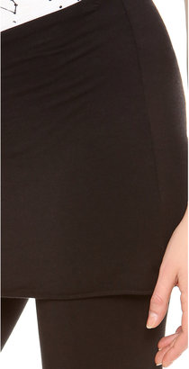 Splendid Maternity Fit Fold Over Leggings