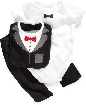 First Impressions Baby Set, Baby Boys Three-Piece Bib, Bodysuit and Pants