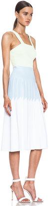 Sonia Rykiel Pleated Knit Dress in Lemonade & Marshmallow