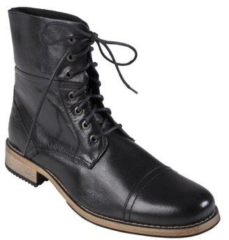 Men's Boston Traveler Leather Lace-up Boots - Black