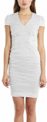Yigal Azrouel Metal Taffeta Dress Optic