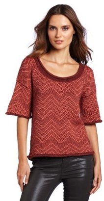 French Connection Women's Basketweave Knit Sweater