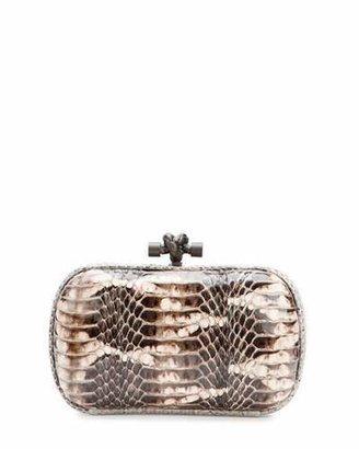 Bottega Veneta Snakeskin Knot Minaudiere, Tan Multi $2,400 thestylecure.com