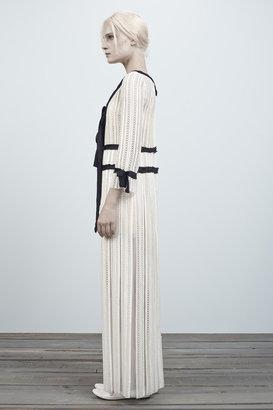 Marc Jacobs Stripe Sequin Eyelet 3/4 Sleeve Dress