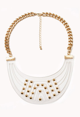 Forever 21 Clear Cutout Bib Necklace