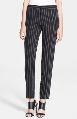 Haute Hippie Silk Georgette Tuxedo Pants