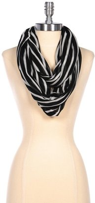 Lori's Shoes Striped Textured Infinity Scarf