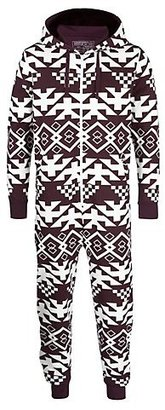 New Look White Pattern Winter Print Onesie
