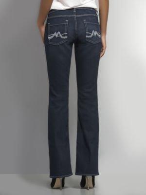 New York & Co. Embellished Curvy Bootcut Jean - Dark Tide Wash