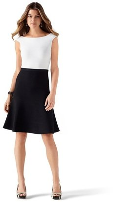 White House Black Market Colorblock Sweater Dress