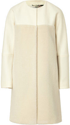 Etro Alpaca-Wool/Faux Fur Mixed-Media Coat