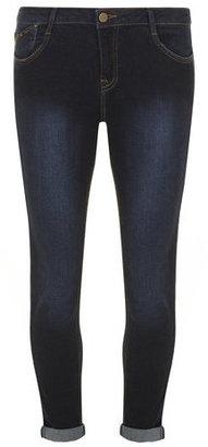 Dorothy Perkins Indigo 'Harper' Skinny Roll Up Jeans