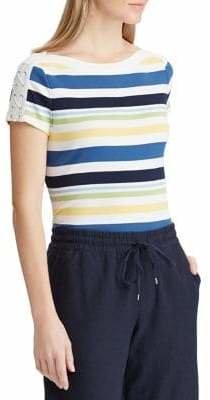 Chaps Slim-Fit Boatneck Cotton Top