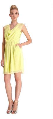 Catherine Malandrino CATHERINE Chiffon Cowl Neck Dress