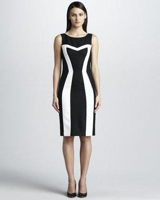 David Meister Contrast Pique Dress