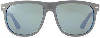 Ray-Ban Highstreet Mirror Shield Sunglasses, Blue/Gray
