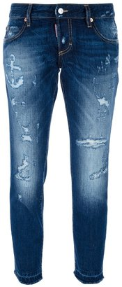 DSquared Dsquared2 distressed cropped jean