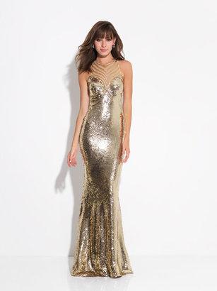 Madison James - Long Sequins High Neck Prom Dress 17-260 $458 thestylecure.com