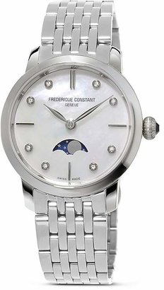 Frederique Constant Slimline Moonphase Stainless Steel Watch, 30mm $1,295 thestylecure.com