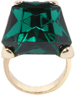 Asos 70's Style Faceted Rhinestone Glam Cocktail Ring