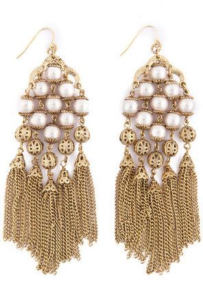Cara Accessories Pearl Swept Away Earrings