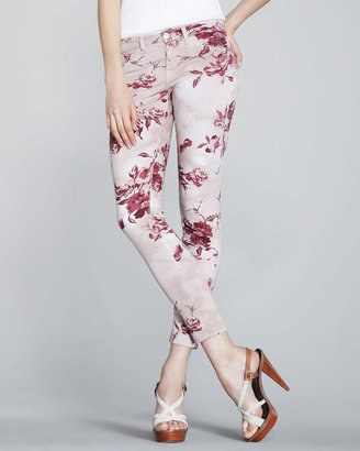 J Brand Jeans 835 Mid-Rise Skinny Floral-Print Jeans (CUSP Most Loved!)