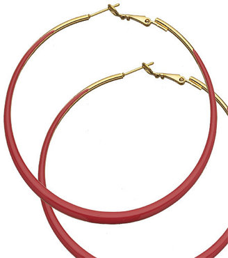 Kenneth Jay Lane Red Hoops