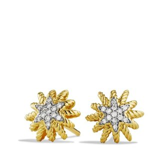 David Yurman Starburst Earrings with Diamonds in Gold