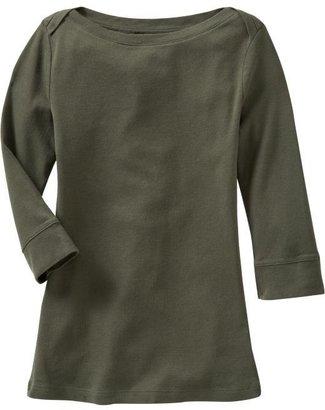 Old Navy Women's 3/4-Sleeve Boat-Neck Tops
