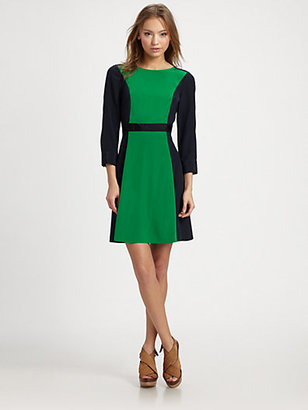 Marc by Marc Jacobs Avery Silk Colorblock Dress