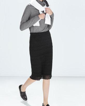 Zara Crochet Tube Skirt