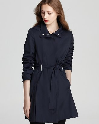 Via Spiga Marcella Belted Trench Coat with Hood